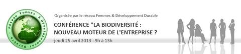 biodiversité, entreprise, conférence, réseau femmes & développement durable