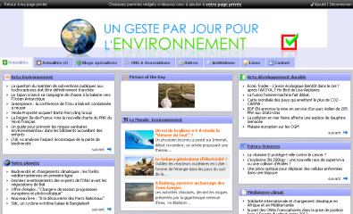 environnement netvibes